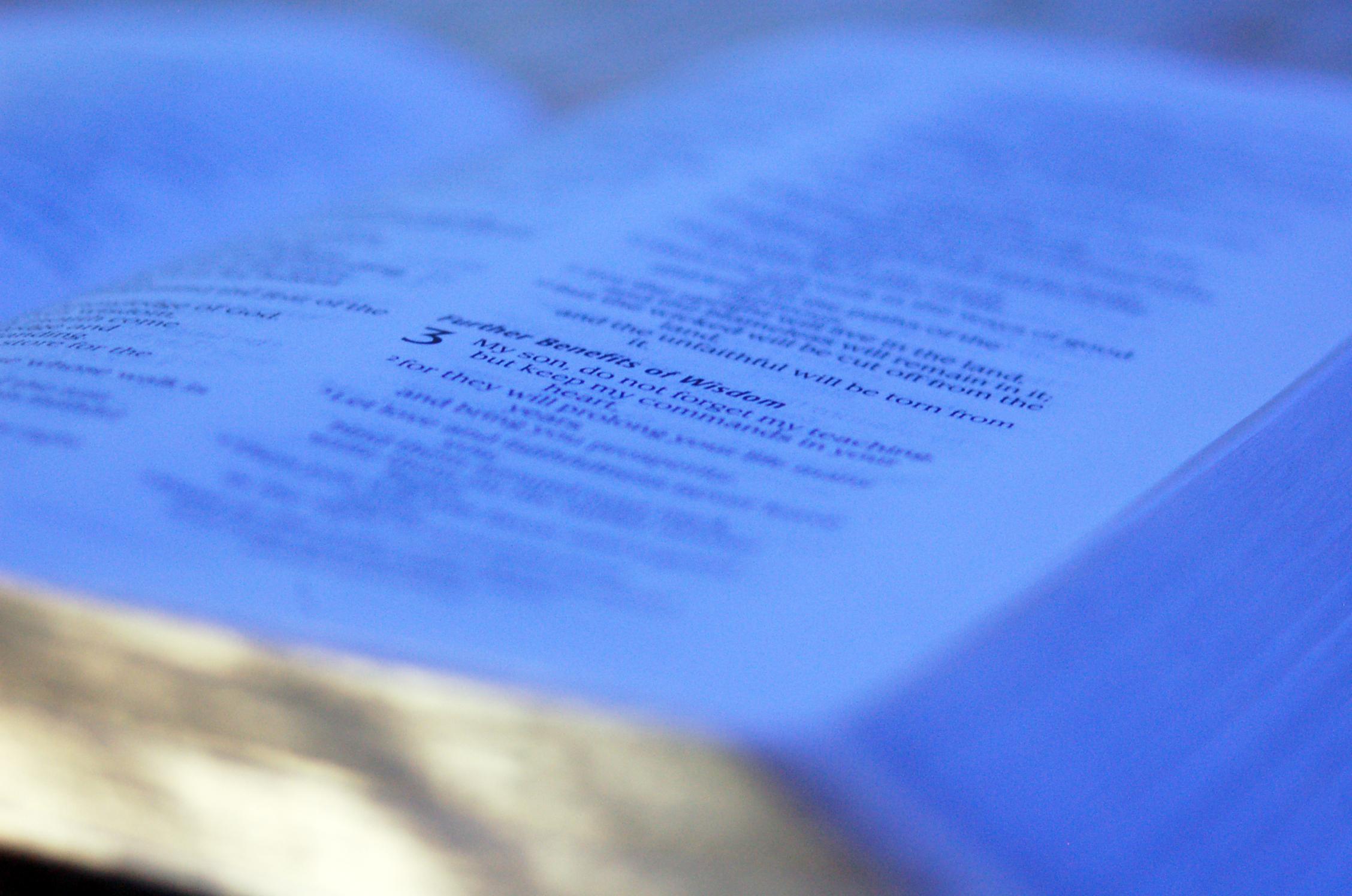 Five Lane Bible Reading Plan