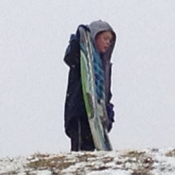 Tuck sledding