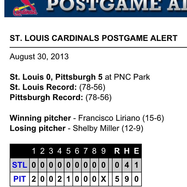 No Bueno! Curse you , you Buckos! #stlcardinals