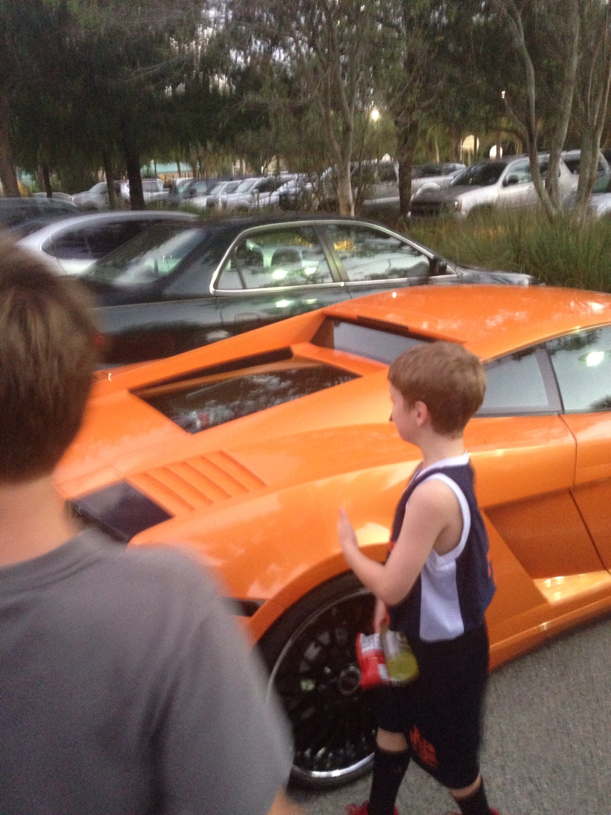 The boys checking out our new ride…not