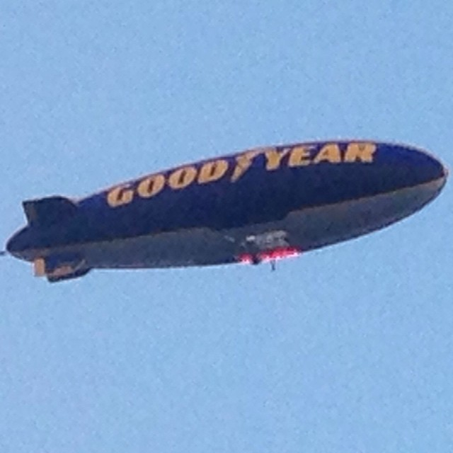 Goodyear Blimp flying over our townhouse for Boca Raton Bowl.