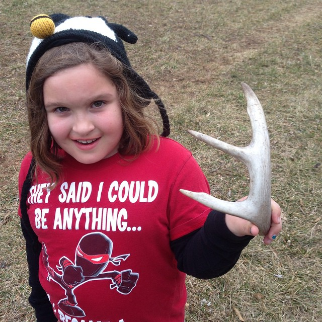Anna found this in the woods today.