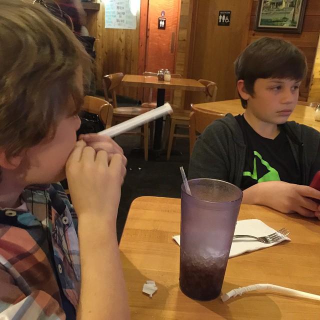 Dinner with the boys…McSalty's Pizza!