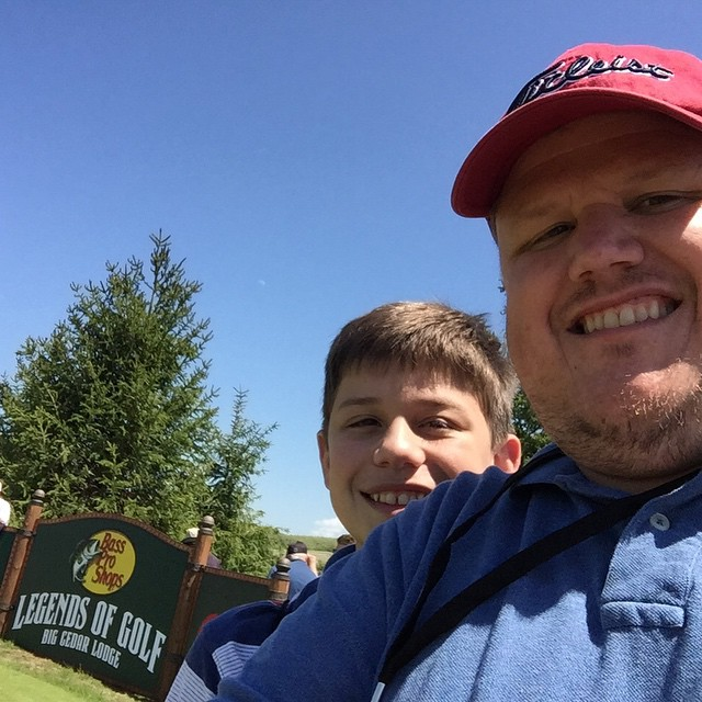 Watching heroes at Bass Pro Shops Legends of Golf