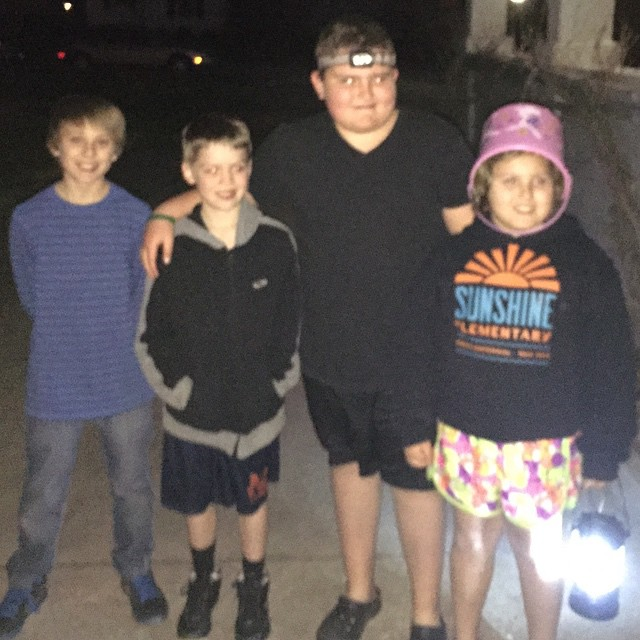 Night time Easter Egg Hunt with family and friends!