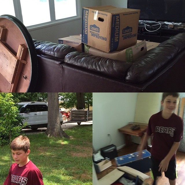 Moving Day Pics…Thanks Dad and Uncle Tad for all your help! #familyfirstin2015 #farm