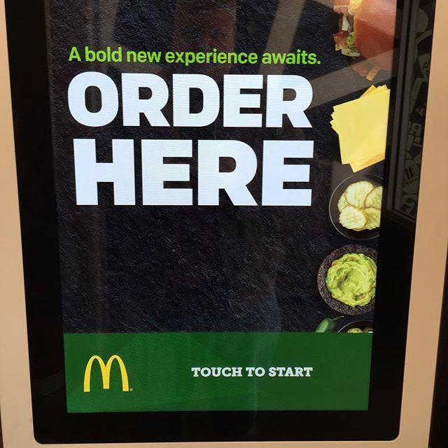 """McDs new """"Create Your Taste"""" kiosks = Create your beat down. #McDs #fail"""