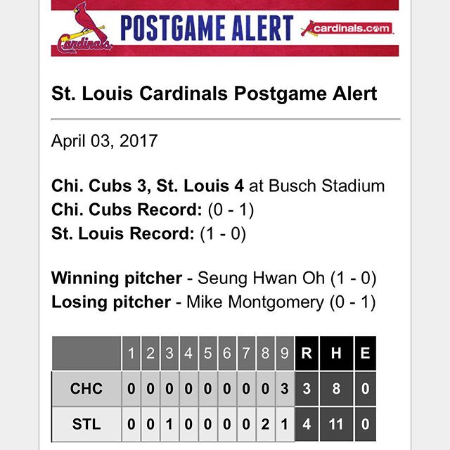 That's a winner! #openingday #stlcardinals #mlb