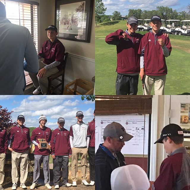 So proud of Taylor and the Strafford Golf Team! They placed 2nd(playoff) as a team in districts at Holiday Hills. Taylor finished 2nd individually with an 83 on a windy and rainy day!