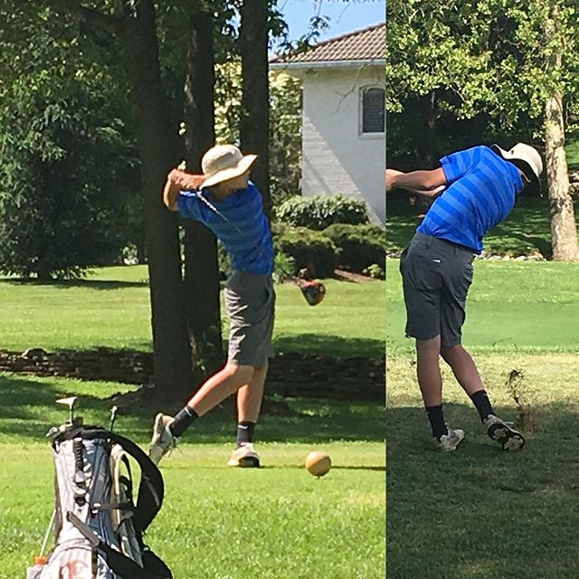 Taylor playing in the Missouri State High School Golf Championships at Fremont Hills. #prouddad